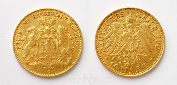 10 Marka 1901 J Hamburg