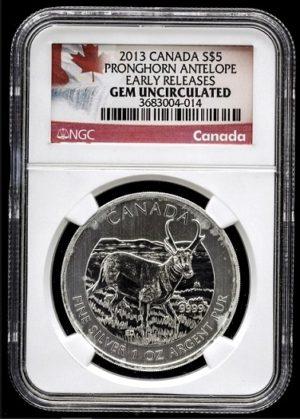 Vidloroh - Stříbrná investiční mince 1 Oz super stav - Certifikace NGC MS 69 !