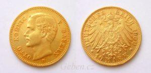10 Marka 1900 D Bavorsko OTTO - krásná