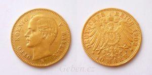 10 Marka 1903 D Bavorsko OTTO