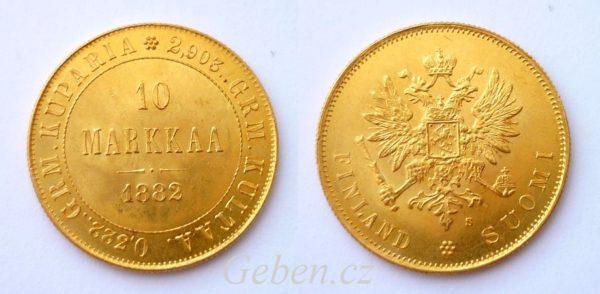 10 MARKKAA 1882 - Alexander III.