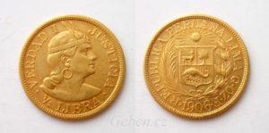 1/2 LIBRA 1906 Peru - Vzácná a krásná