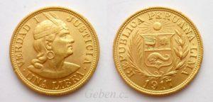 1 LIBRA 1917 Peru - Indián