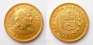 1 LIBRA 1918 Peru - Indián