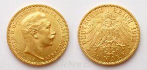 20 Marka 1912 J Wilhelm II.