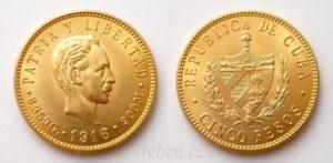 5 Pesos 1916 Kuba