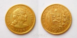 1/2 LIBRA 1904 Peru - Vzácná a krásná