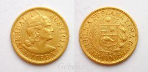 1/2 LIBRA 1908 Peru - Indián