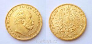 20 Mark 1873 C Wilhelm I.