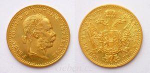 zlatý dukát1877 Fratišek Josef I.