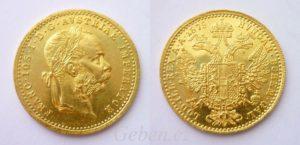 zlatý dukát1879 Fratišek Josef I.