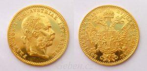 zlatý dukát1892 Fratišek Josef I.