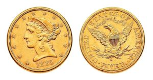 5 Dollars 1885 S - LIBERTY Head