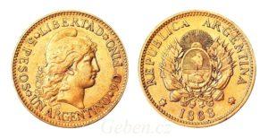 Argentino - 5 Pesos 1888 ! Libertad