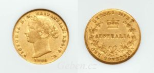 Sovereign 1866 (sy) ! Victoria Young Head