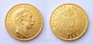 20 Marka 1912 A Wilhelm II.
