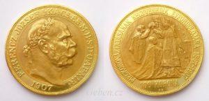 100 Koruna 1907 KB KORUNOVAČNÍ