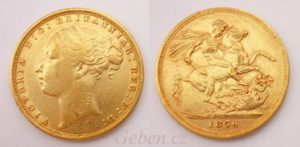 Sovereign 1876 Sy Victoria - Young Head