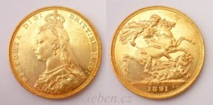 Sovereign 1891 M Victoria