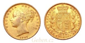 Sovereign 1885 Sy Victoria - Young Head / Štít