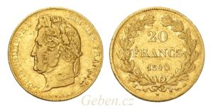 20 Frank 1840 A - Louis Philippe I.