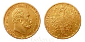 20 Mark 1873 A Wilhelm I.