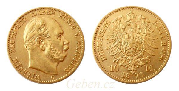 10 Marka 1873 C Wilhelm I.