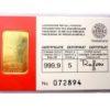 5 g Argor Heraeus - Investiční zlatý slitek - Švýcarsko