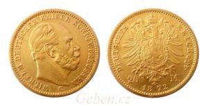 20 Mark 1872 C Wilhelm I.
