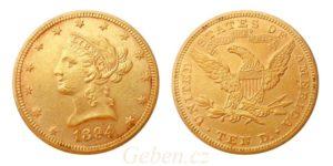 "10 Dollars 1894 LIBERTY ""Coronet Head - Eagle"""