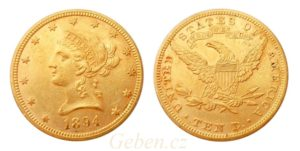 "10 Dollars 1894 LIBERTY ""Coronet Head - Eagle"""