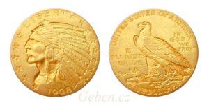 5 Dollar 1908 Indian Head