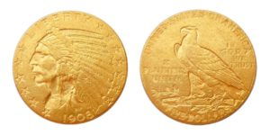 5 Dollar 1908 D ! Indian Head