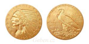 5 Dollar 1909 Indian Head