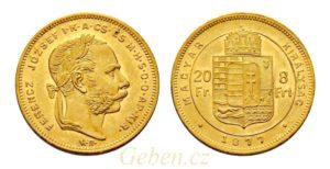 8 Zlatník - 8 Forint 1877 KB
