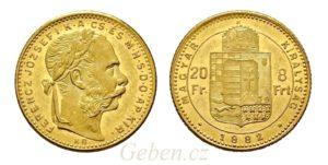 8 Zlatník - 8 Forint 1882 KB