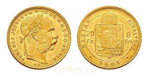 8 Zlatník - 8 Forint 1887 KB
