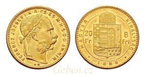 8 Zlatník - 8 Forint 1888 KB