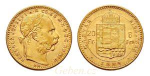 8 Zlatník - 8 Forint 1889 KB