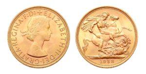 1 Sovereign - Libra 1958 - Královna Alžběta II.