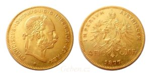 4 Zlatník - 4 Florin - 10 Frank 1877 R