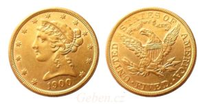 5 dollars 1900 Liberty