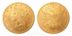 "10 Dollars 1893 LIBERTY ""Coronet Head - Eagle"""