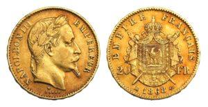 20 Frank 1868 BB - Napoleon III.