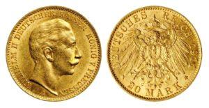 20 Marka 1911 A - Wilhelm II.