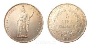 5 LIRA 1848 M - Nádherná a vzácná