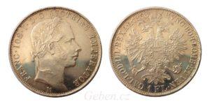 Zlatník - Florin 1858 M Nádherný a vzácný s RL !