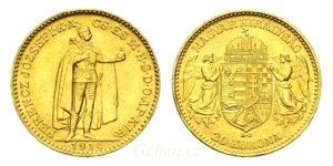 20 Koruna 1914 KB se znakem Bosny