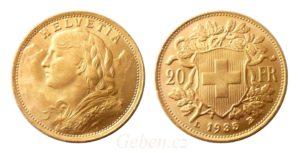 20 Frank 1935 - Švýcarsko