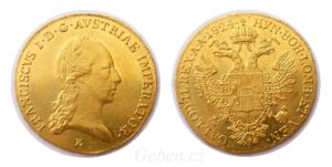 Dukát 1824 E ! František II. - Vzácný